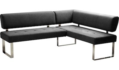 INOSIGN Eckbank »Aran«, langer Schenkel 215 cm, wahlweise rechts oder links, Bezug aus... kaufen
