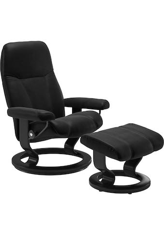 Stressless® Relaxsessel »Consul«, mit Hocker, mit Classic Base, Größe M, Gestell Schwarz kaufen