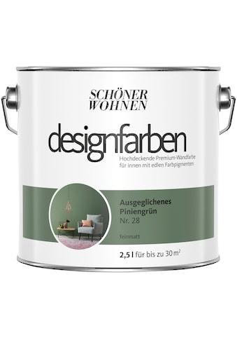 SCHÖNER WOHNEN-Kollektion Wand- und Deckenfarbe »Designfarben«, ausgeglichenes Piniengrün Nr. 28, feinmatt 2,5 l kaufen