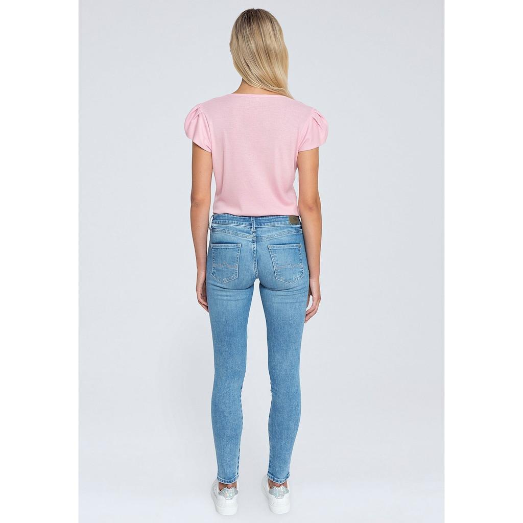 Pepe Jeans Röhrenjeans »PIXIE STITCH«, im 5-Pocket-Stil mit Stretch-Anteil und Logo-Stickerei