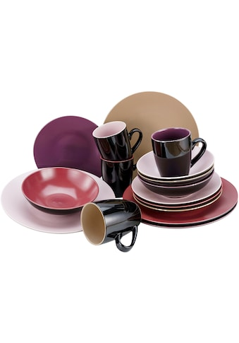 CreaTable Kombiservice »Very Berry«, (Set, 16 tlg.), in Beerenfarben kaufen