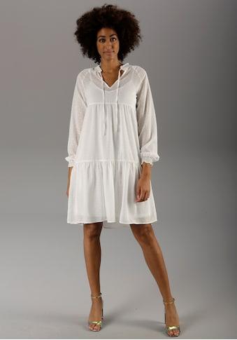 Aniston CASUAL Sommerkleid, (Set, 2 tlg.), mit eingewebten Punkten - NEUE KOLLEKTION kaufen