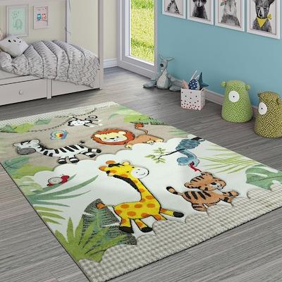 Kinderteppich mit Tiermotiven