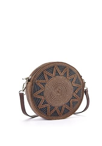 LASCANA Umhängetasche, Kleine Strandtasche, Minibag in modischer Bastoptik und runder Form kaufen