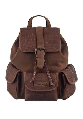 GreenLand Nature Cityrucksack »NATURE Leather-Cork«, mit RFID-Schutz kaufen