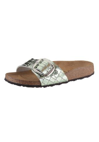Birkenstock Pantolette »Madrid«, in glänzender Reptiloptik, Schuhweite: schmal kaufen