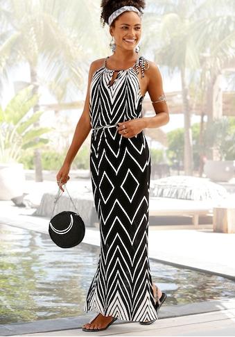 LASCANA Maxikleid, im Schwarz-Weiß-Design kaufen