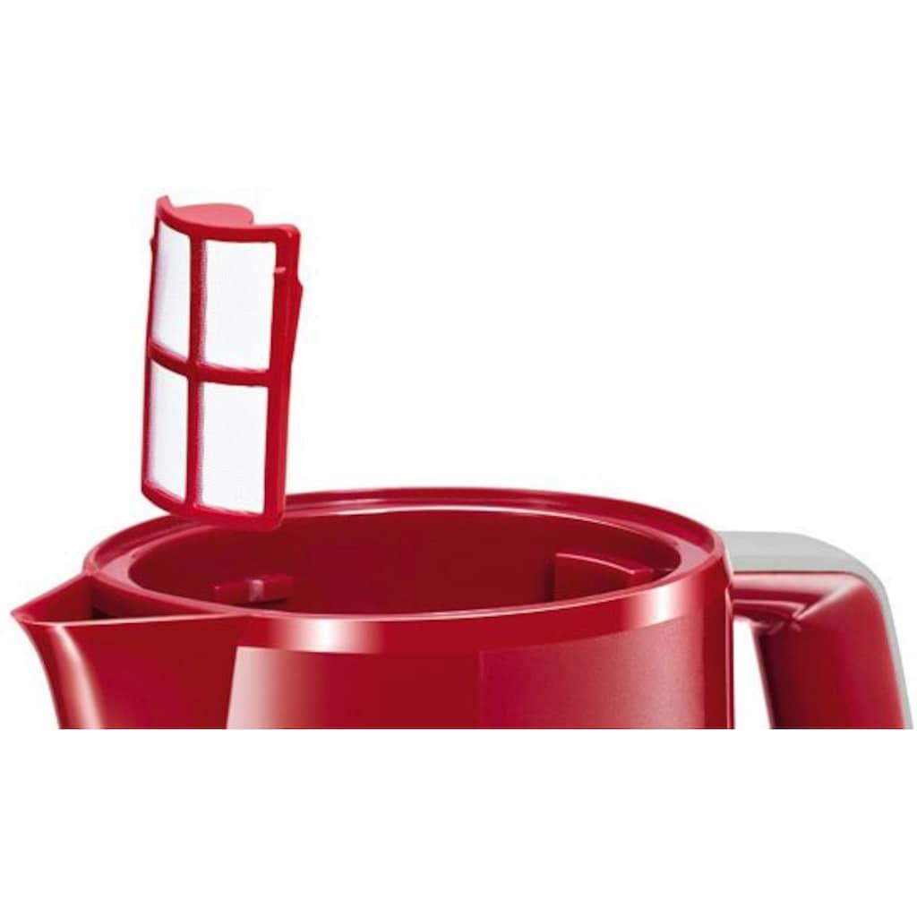 BOSCH Wasserkocher »CompactClass TWK3A014 ROT«, 1,7 l, 2400 W