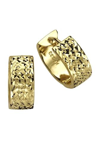 Fascination by Ellen K. Paar Creolen »333 Gelbgold diamantiert«, Creolen kaufen