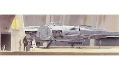 Komar Fototapete »STAR WARS Classic RMQ MilleniumFalcon«, bedruckt-Comic, ausgezeichnet lichtbeständig kaufen