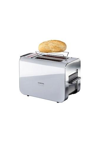 SIEMENS Toaster »Sensor for Senses TT86105«, 2 kurze Schlitze, für 2 Scheiben, 860 W,... kaufen