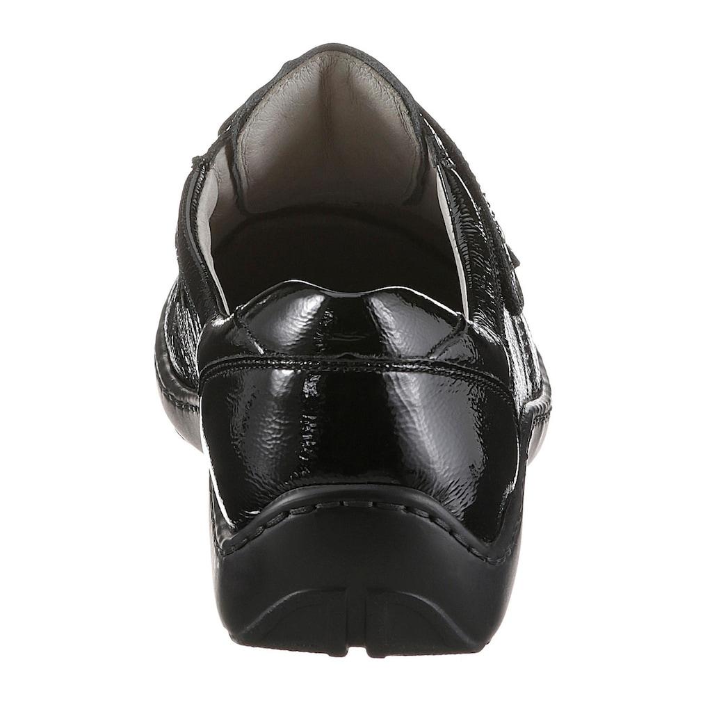 Waldläufer Klettschuh »HENNI«, in Glanzoptik und komfortabler Schuhweite H