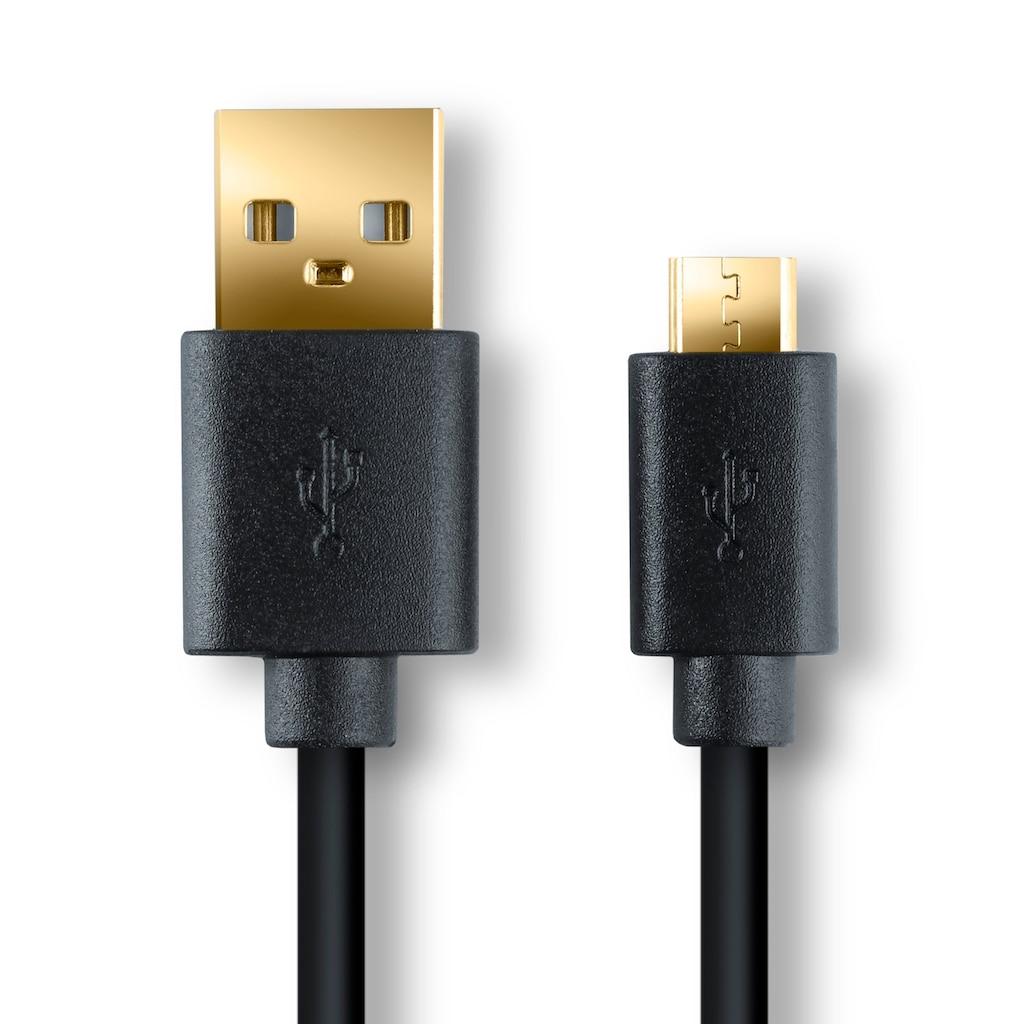 CSL High Speed Micro USB 2.0 auf USB Lade & Daten Kabel