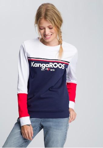 KangaROOS Sweatshirt, mit besonderem Colorblocking kaufen