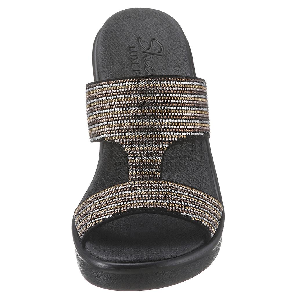 Skechers Pantolette »Rumble On - Bling Gal«, mit funkelnder Bandage