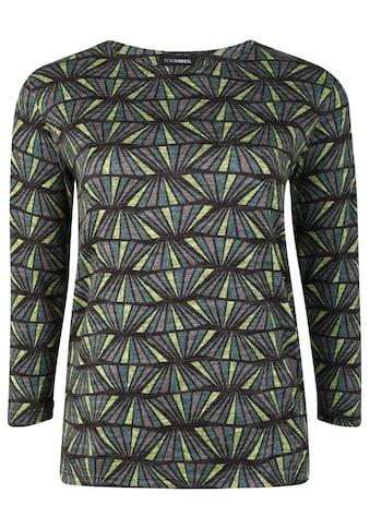 Doris Streich Strickpullover »mit geometrischem Muster«, mit Kontrastverarbeitung kaufen