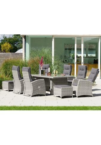 KONIFERA Gartenmöbelset »Monaco«, (17 tlg.), 6 Sessel, 2 Hocker, Tisch, Polyrattan kaufen