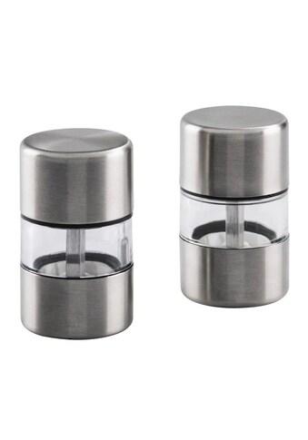 Xavax Mini Salzmühle und Pfeffermühle 2er Set, Edelstahl, Keramik »Mühle für Salz und Pfeffer« kaufen