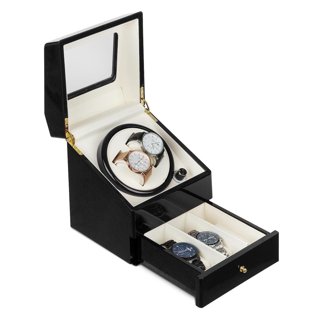 Klarstein Geneva Uhrenbeweger 2 Uhren 4 Modi Schubfach schwarz