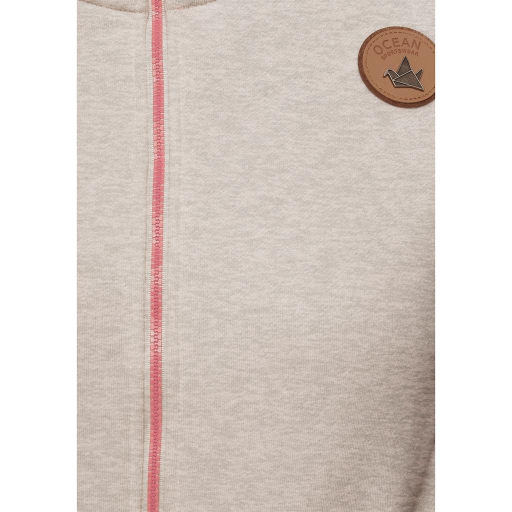 Ocean Sportswear Kapuzensweatjacke, in Melange-Optik