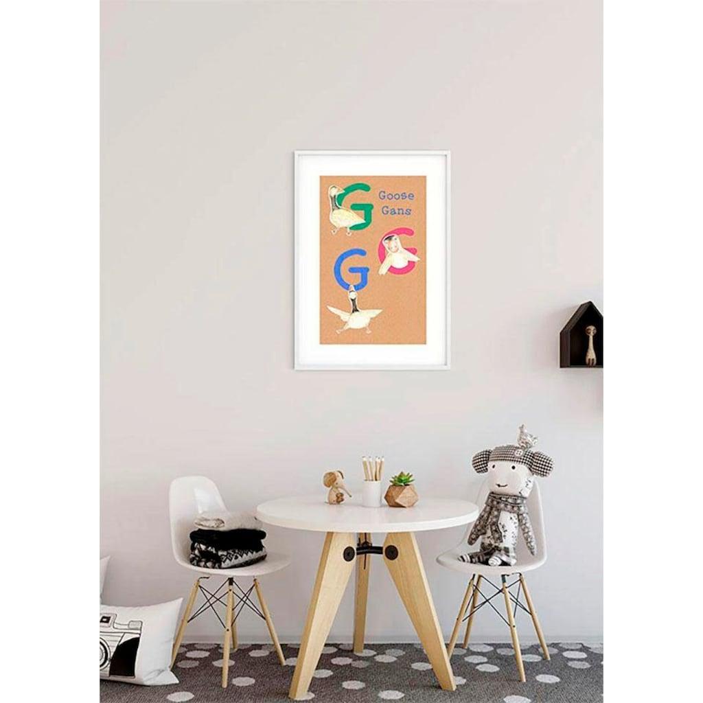 Komar Poster »ABC Animal G«, Buchstaben, Höhe: 120cm
