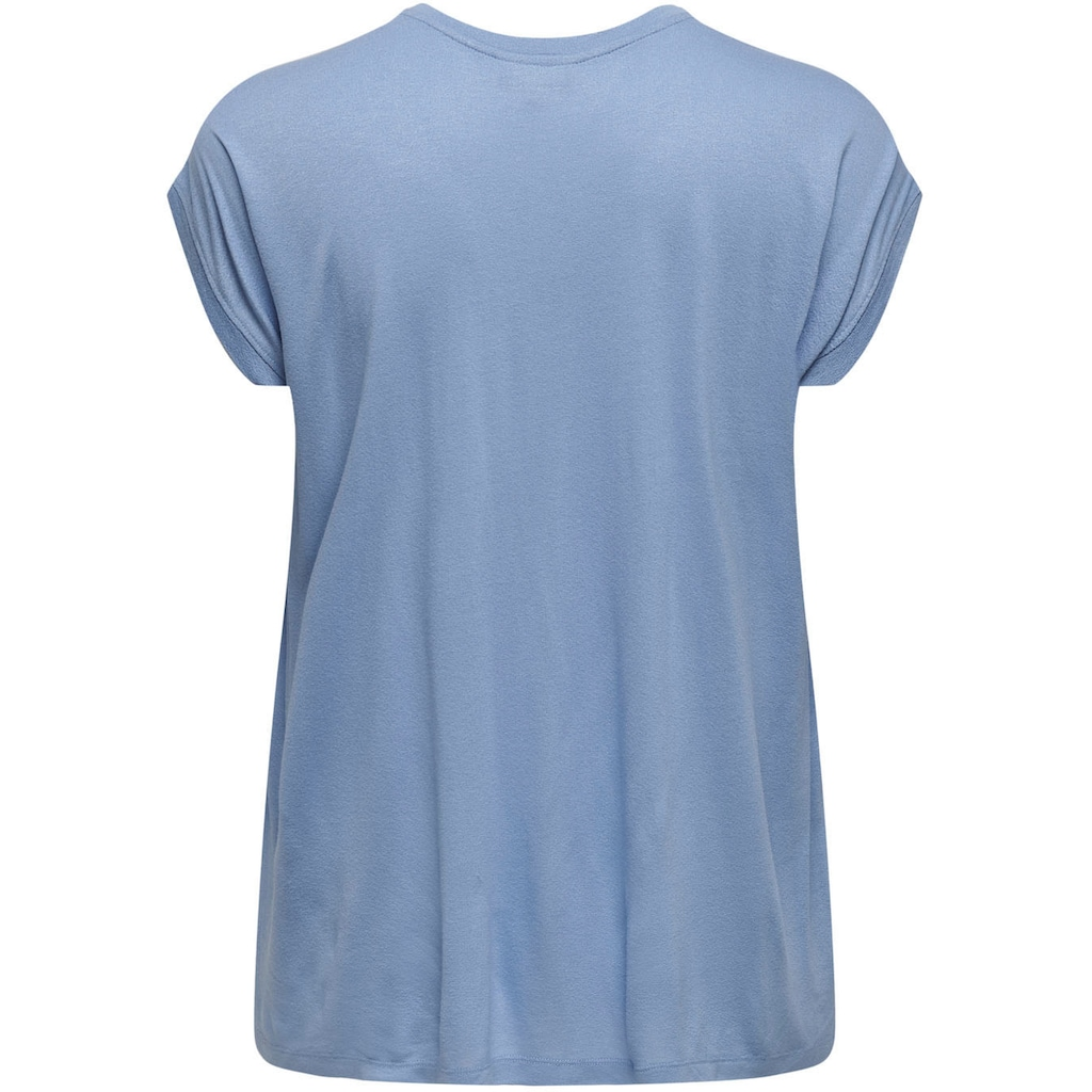 ONLY CARMAKOMA Longshirt »CARFLAKE«, vorn in Spitzenoptik