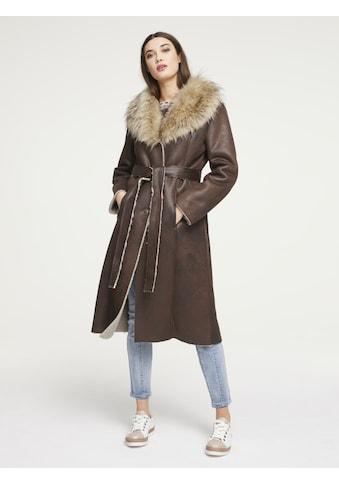 Mantel in Leder - Optik kaufen