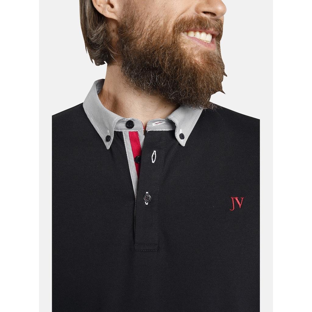 Jan Vanderstorm Poloshirt »NJAL«, mit Button-Down Kragen