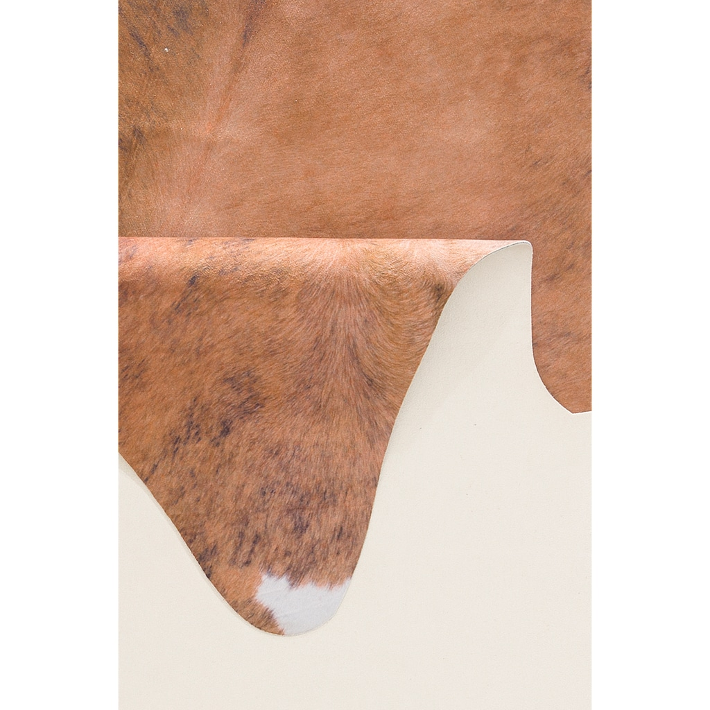 Home affaire Teppich »Kuhfell-Look«, rechteckig, 3 mm Höhe, Kunstfell, Kuhfell-Optik, Wohnzimmer