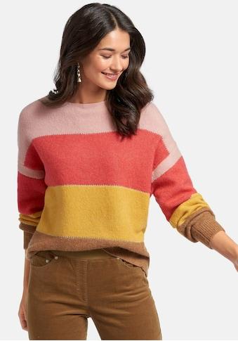 Peter Hahn Strickpullover »Pullover«, mit Colour-Blocking kaufen