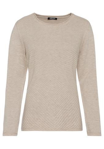 Olsen Rundhalspullover, mit Rippstrick-Muster kaufen
