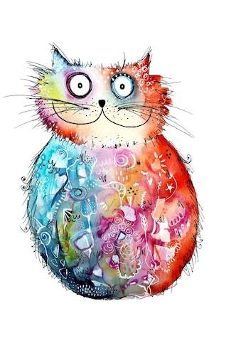 Wall-Art Wandtattoo »Lebensfreude - Happy Cat« kaufen