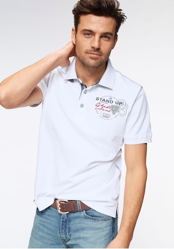 Rhode Island Poloshirt »Piqué Qualität«, mit modischen Kontrastnähten kaufen