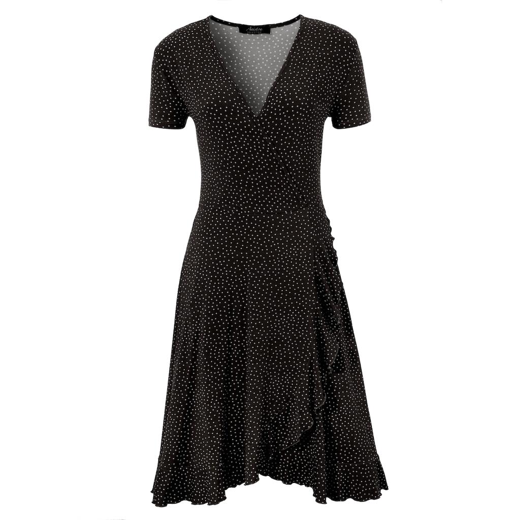 Aniston SELECTED Sommerkleid, mit Rüschenverzierung - NEUE KOLLEKTION