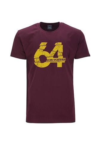 AHORN SPORTSWEAR T-Shirt »NUMBER 64«, mit modischem Frontprint kaufen