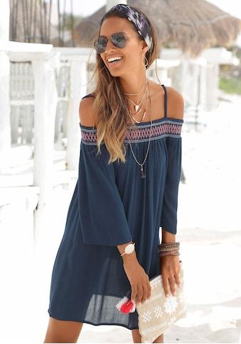s.Oliver Beachwear Strandkleid, aus gewebter Viskose kaufen
