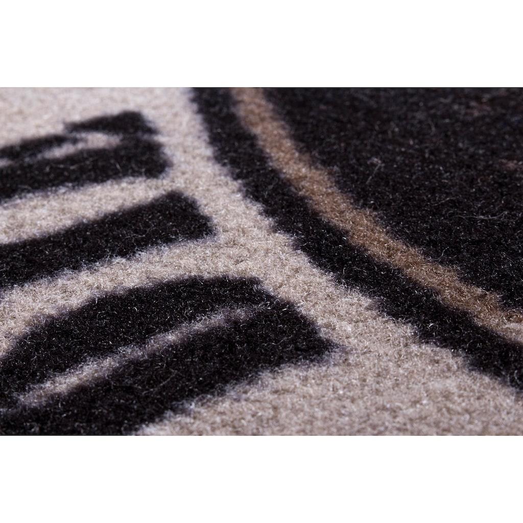 Andiamo Fußmatte »BBQ Grillsaison«, rechteckig, 3 mm Höhe, Fussabstreifer, Fussabtreter, Schmutzfangläufer, Schmutzfangmatte, Schmutzfangteppich, Schmutzmatte, Türmatte, Türvorleger, Grillmatte bzw. Grillunterlage ideal als Bodenschutz, In- und Outdoor geeignet