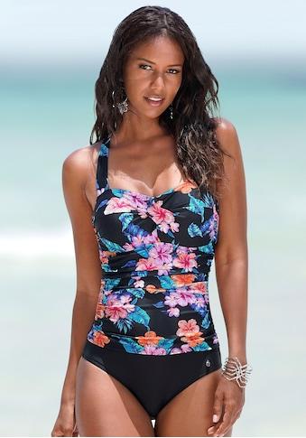 LASCANA Badeanzug, mit Neckholder und Print kaufen