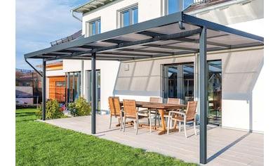 GUTTA Terrassendach »Premium«, BxT: 611x406 cm, Dach Polycarbonat bronce kaufen