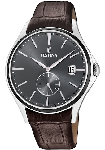 Festina Quarzuhr »Lederband Klassisch, F16980/C« kaufen