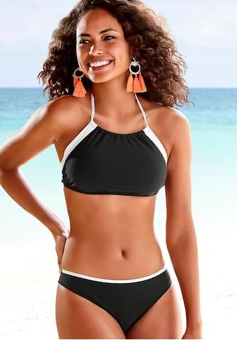 LASCANA Bustier-Bikini, mit kontrastfarbener Einfassung kaufen