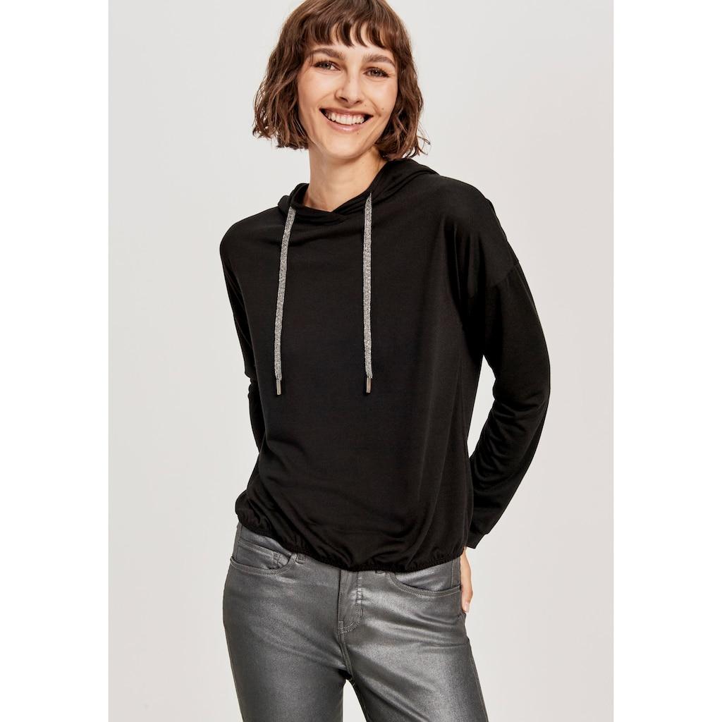 OPUS Kapuzensweatshirt »Gianka«, mit Kordeln mit Perlen-Details
