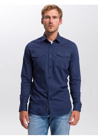Cross Jeans® Langarmhemd »35364«, Figurnahes Freizeithemd kaufen