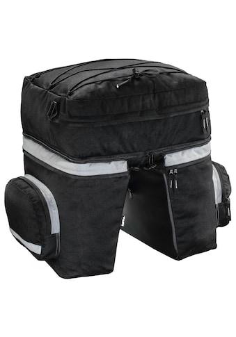 Hama Gepäckträgertasche Fahrrad 3tlg mit Rucksack u. Regenschutz »Fahrradtasche Gepäckträger 40l« kaufen