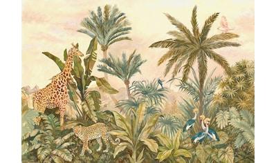 Komar Fototapete »Tropical Vintage Garden«, bedruckt-Comic-Retro-mehrfarbig, BxH:... kaufen