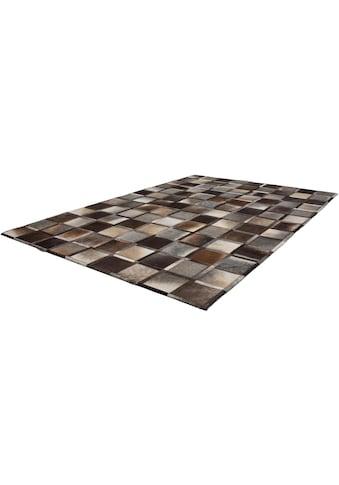 Kayoom Lederteppich »Lavish 410«, rechteckig, 8 mm Höhe, Patchwork-echtes Leder-Fell, Wohnzimmer kaufen