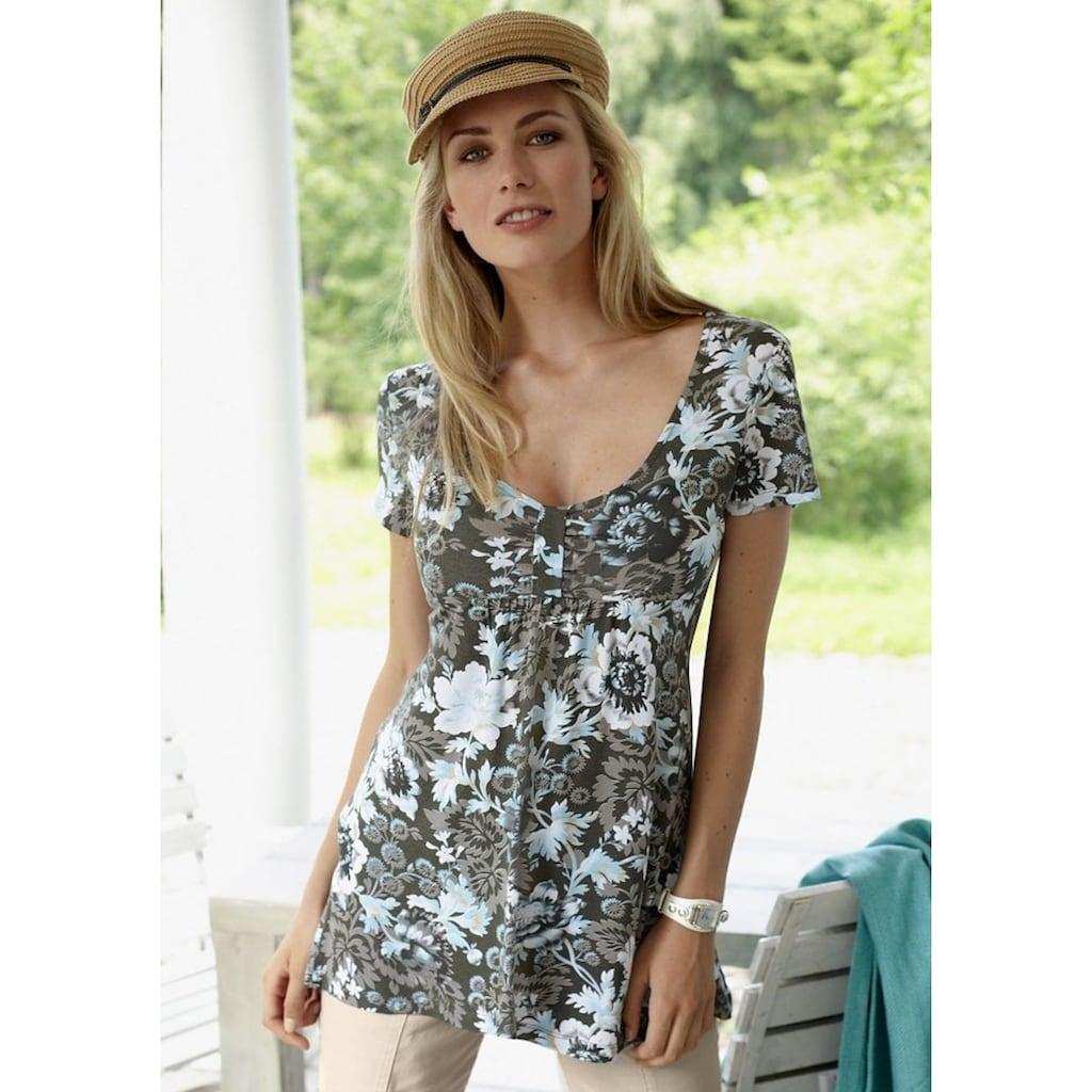 Aniston SELECTED Tunika, mit Raffung im Brustbereich