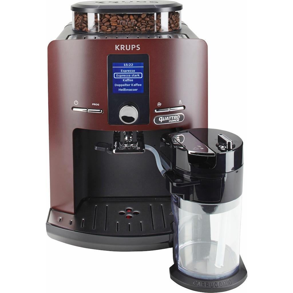 Krups Kaffeevollautomat »EA829G Latt'Espress Quattro Force«, integrierter Milchbehälter