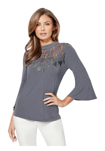 Lady Shirt mit Spitzeneinsatz kaufen