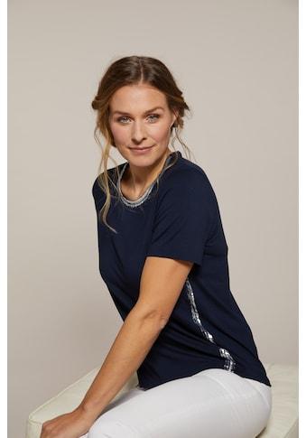 Hajo Rundhalsshirt, mit handgefertigte Folienapplikation kaufen